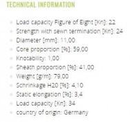 COARDA EDELRID PERFORMANCE STATIC 11mm X 50m