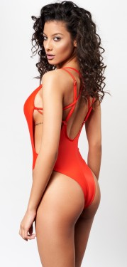 Poze Costum baie BAYWATCH red