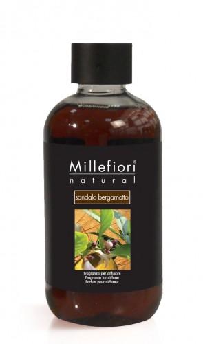 Rezerva parfum Millefiori Milano aroma Sandalo bergamotto