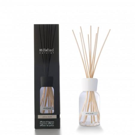 Difuzor de parfum cu betisoare din bambus White Musk