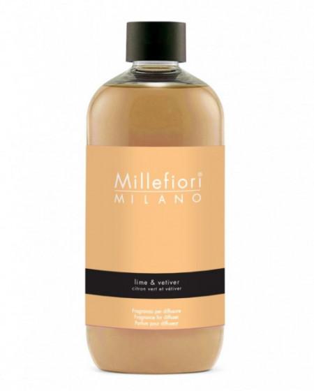 Rezerva de parfum Millefiori Milano aroma Lime & Vetiver 500ml