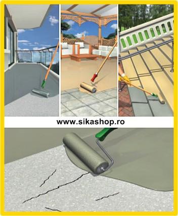Vopsea hidroizolatoare beton sapa scari terase Sikafloor 400N (Sikafloor 350) UV