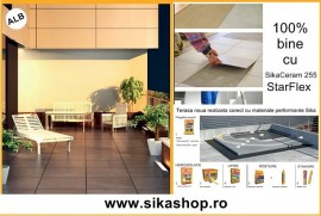 Adeziv flexibil de exterior interior SikaCeram 255 StarFlex alb