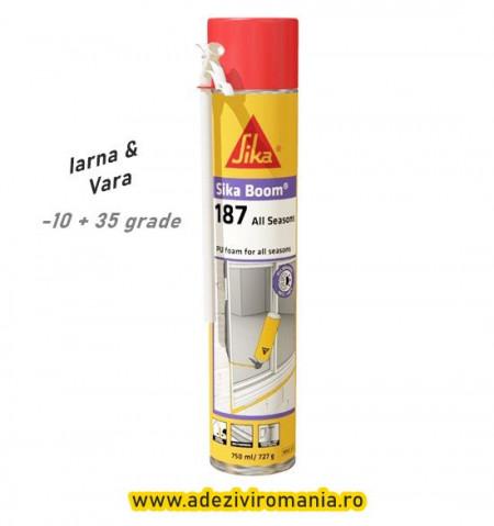 SikaBoom spuma poliuretanica iarna -vara 187 tub de750 ml