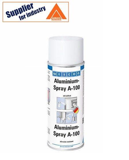 Weicon Aluminium Spray A-100 rezistent la abraziune 400ml