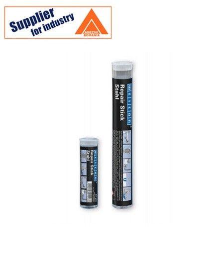 Adeziv epoxidic pastos Repair Stick Otel 115g intarire rapida pentru reparatii ale suprafetelor metalice