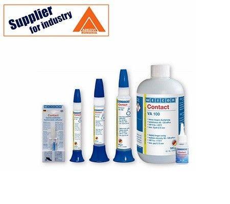 Adeziv transparent Weicon Contact VA 100 universal,lichid, pentru lipirea metalelor, materialelor plastice, cauciucului, 12g