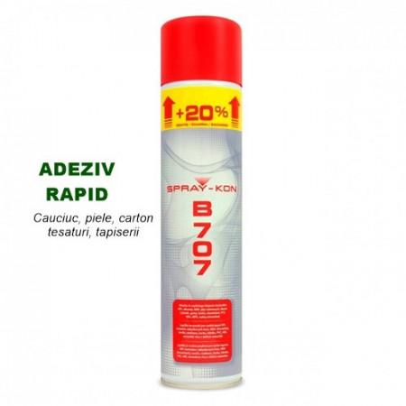 Adeziv de contact Spray lipire Cauciuc, piele, carton, tesaturi, tapiserie