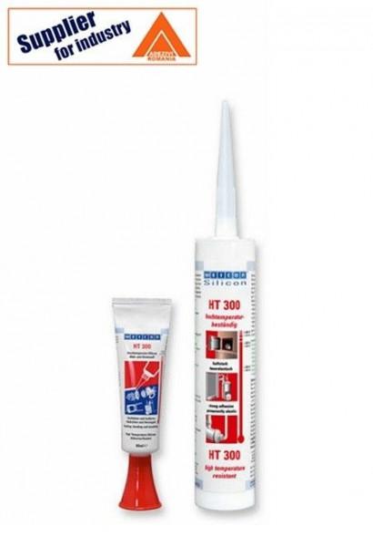 Adeziv si etansant rezistent la temperaturi inalte Weicon HT 300, rosu 310ml