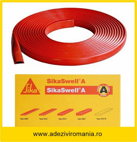 Banda pentru hidroizolatii SikaSwell A 2020 20 mm X 10mm X 10 m