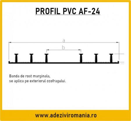 Profil de etansare PVC Sika Waterbar AF 24 la 15m