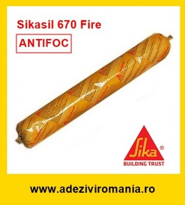 Silicon antifoc Sikasil 670 Fire flexibil GRI 600 ml