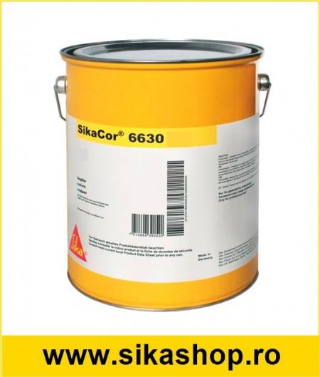 Vopsea anticorozova pentru metal SikaCor High Solid 6630 HS 30KG- RAL7032