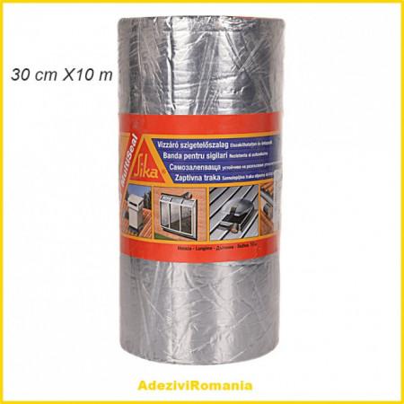 Banda etansare acoperis Sika Multiseal Banda 30 cm X 10 m Aluminiu