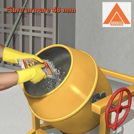 Fibre de armare pentru beton 4.8 cm SikaFiber T48 fibre pt beton