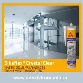 Poze Un produs nou adeziv si silicon transparent Sikaflex Crystal clear 290ml