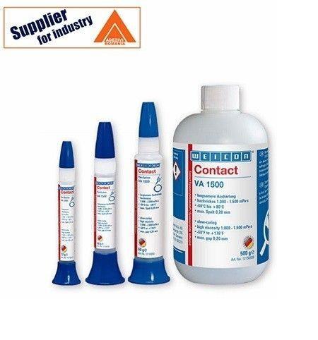 Adeziv Weicon Contact VA 1500, lichid, transparent, pentru lipirea cauciucului și a materialelor plastice, 500g