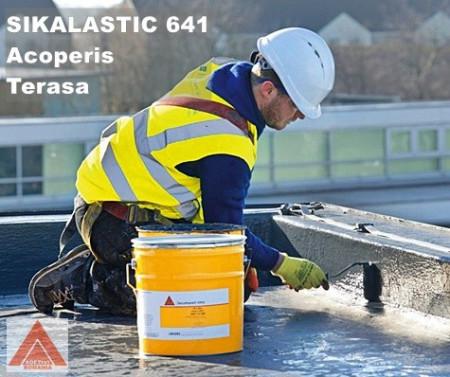 Sikalastic 701 alb sau alte nuante RAL - membrana lichida Sika 25 KG - circulabil