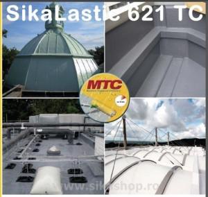 Hidroizolatie terasa, acoperis membrana SikaLastic 621 TC bidon 7.2 kg - RAL7015