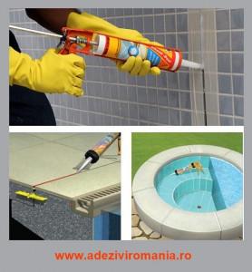 Silicon potrivit pentru piscine, rezistent la curatarea cu clor Sikasil Pool 300ML alb