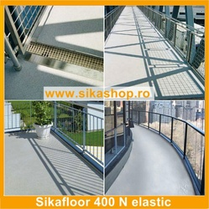Vopsea hidroizolatii beton terase scari Sikafloor 400 N Elastic ambalaj 18 kg
