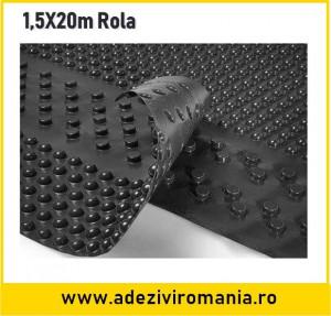 Membrana cramponata terra hidroizolatii fundatie latime 1,5 m