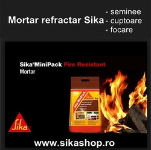 Mortar refractar rezistent la foc pentru seminee, focare, cuptoare Sika Monotop-100 Fire Resistant