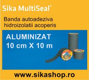 Banda Hidroizolatii acoperis Sika Multiseal Alu 10cm X 10m
