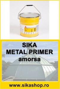 Amorsa Sika Metal Primer pentru tabla la hidroizolatie membrana lichida Sikalastic 7,17 kg