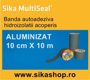 Banda Hidroizolatii acoperis Sika Multiseal 10cm X 10m Aluminiu