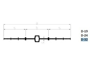 Profil de etansare PVC hidroizolatie fundatie Sika Waterbar D 32 la 15m