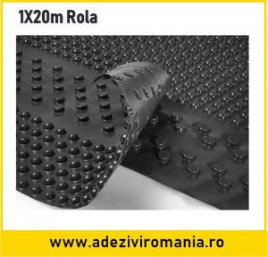 Membrana cramponata pentru hidroizolatie fundatie latime 1 m