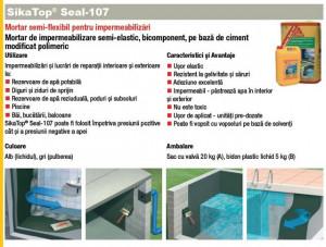 SikaTop Seal 107 mortar hidroizolatii terasa la 25kg Super pret !