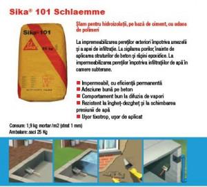Hidroizolatii terase Sika 101 Schlaemme Mortar hidroizolant 25kg