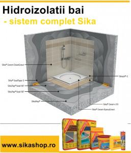 Hidroizolatie baie bucatarie terasa SikaTop Seal 107 mortar