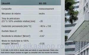 Silicon pentru piatra naturala si beton Sikasil WS 355 la 600 ml - la comanda externa