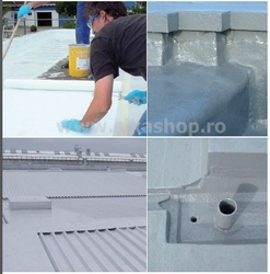 Vopsea hidroizolatie terasa, acoperis SikaLastic 614 alb 21,7 kg