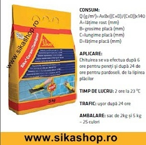 Chit de rost SikaCeram CleanGrout gri Antracit 5 kg