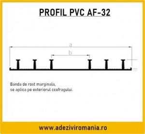 Profil de etansare PVC Sika Waterbar AF 32 la 15m