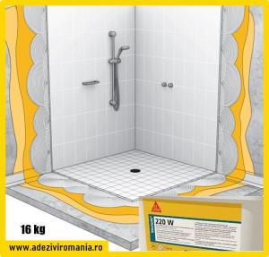 Hidroizolatie baie, cabina dus Sikalastic 220 W la 16 kg