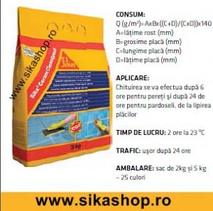 Chit de rost SikaCeram CleanGrout alb 5 kg interior-exterior