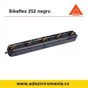 Adeziv structural industrial PVC, compozit, metal, lemn, dibond Sikaflex 252 negru