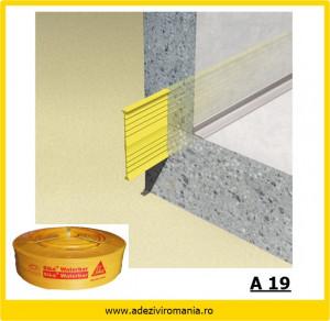 Profil de etansare PVC A19 Sika Waterbar( V 15) la 30m