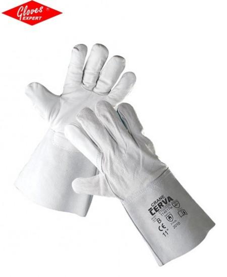 Mănuşi cu palma şi degetele din piele de bovină CRANE
