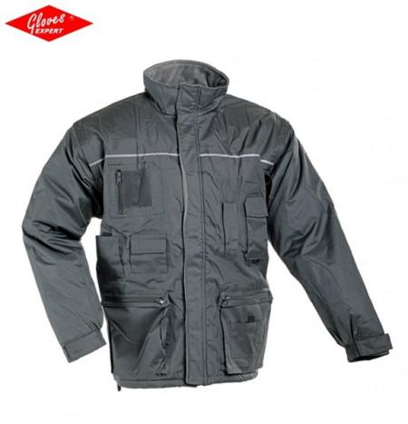LIBRA 2 în 1 jacheta gri de iarnă cu mâneci detaşabile