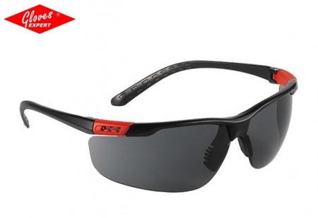 Ochelari de protectie braţe negre, lentile fumurii THUNDERLUX