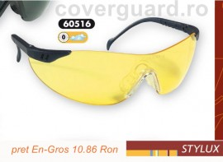 Ochelari protectie cu lentila galbena Stylux