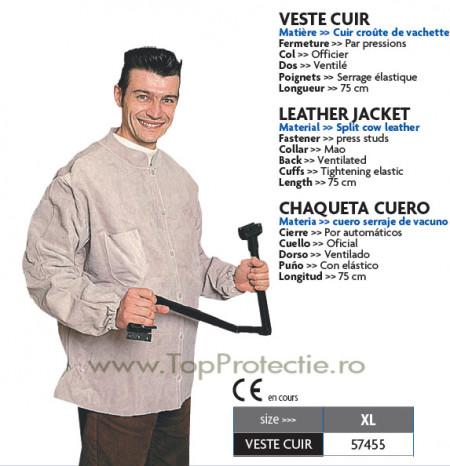 Jacheta din piele pentru protectie sudori