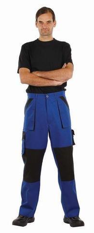 Pantaloni talie Kleen, albastru/negru