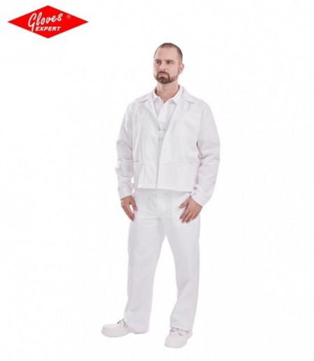 Imbrăcăminte textilă albă PANTALONI PE TALIE